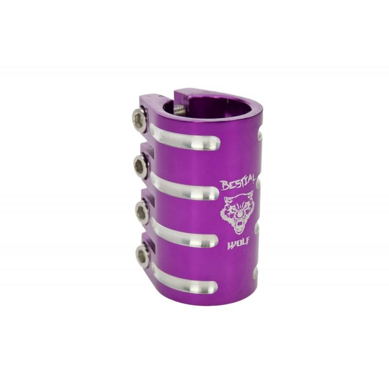 Clamp de 4 tornillos Bestial Wolf violeta