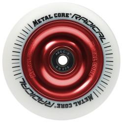 Rueda Metal Core RADICAL goma blanca núcleo rojo