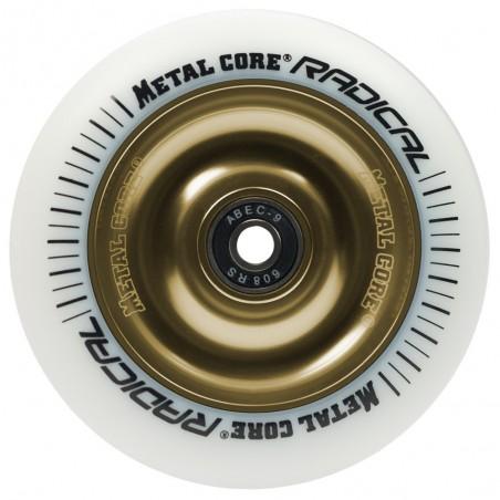 Rueda Metal Core RADICAL goma blanca núcleo dorado