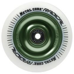 Rueda Metal Core RADICAL goma blanca núcleo verde