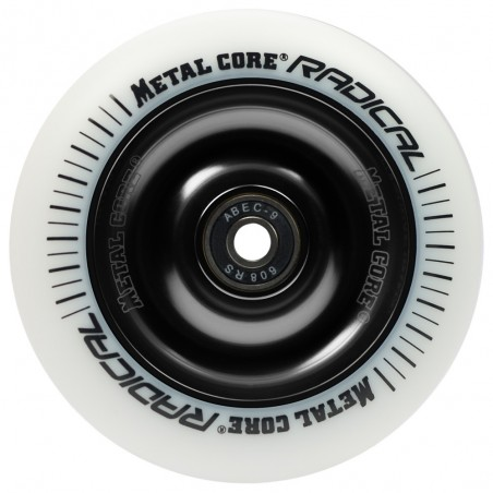 Rueda Metal Core RADICAL goma blanca núcleo negro