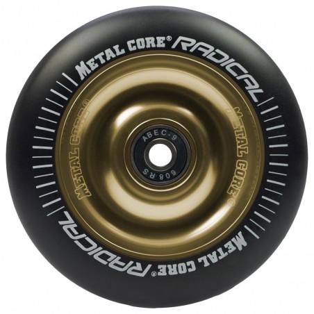Rueda Metal Core RADICAL goma negra núcleo dorado