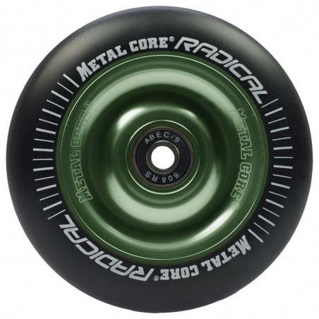 Rueda Metal Core RADICAL goma negra núcleo verde