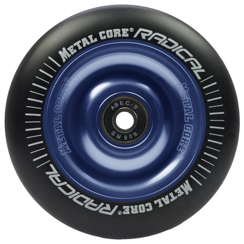 Rueda Metal Core RADICAL goma negra núcleo azul