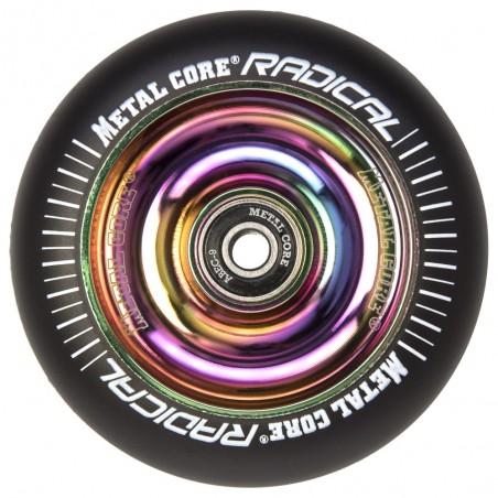 Rueda Metal Core RADICAL goma negra núcleo rainbow