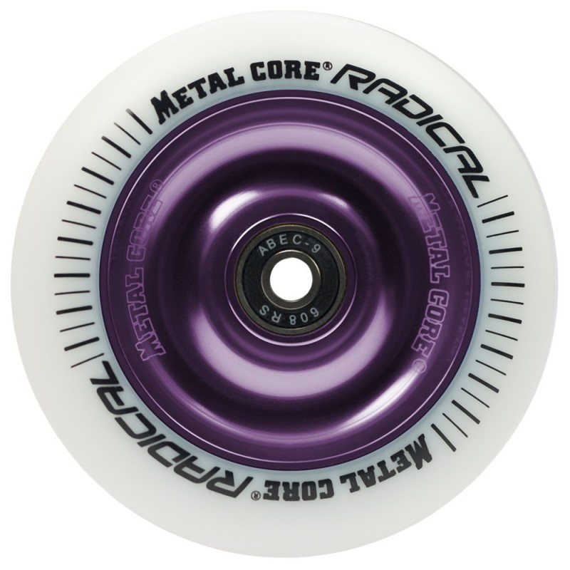 Rueda Metal Core RADICAL 110 goma blanca núcleo violeta