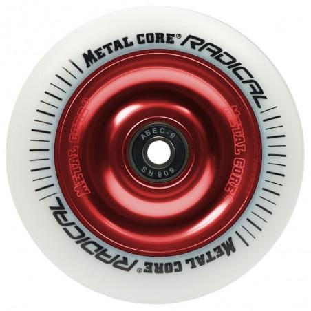 Rueda Metal Core RADICAL 110 goma blanca núcleo rojo
