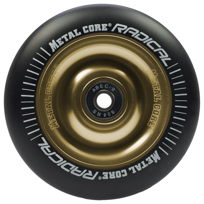 Rueda Metal Core RADICAL 110 goma negra núcleo dorado