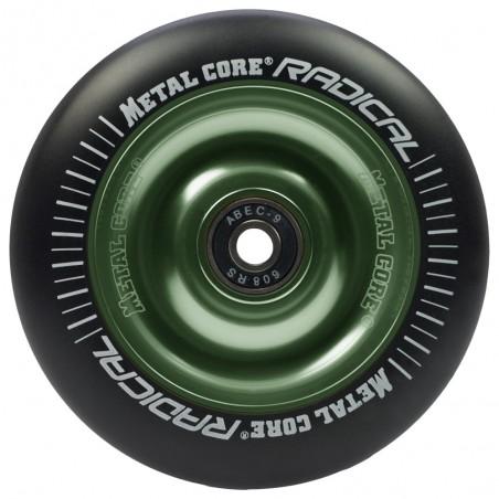 Rueda Metal Core RADICAL 110 goma negra núcleo verde