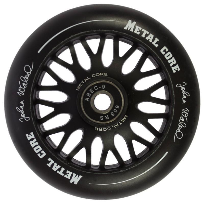 Rueda Metal Core JOHAN goma negra núcleo negro