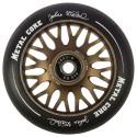 Rueda de 110mm Metal Core JOHAN goma negra núcleo marrón