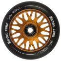 Rueda de 110mm Metal Core JOHAN goma negra núcleo color cobre