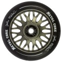 Rueda de 110mm Metal Core JOHAN goma negra núcleo color titanio
