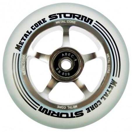 Rueda Metal Core STORM goma transparente núcleo color aluminio