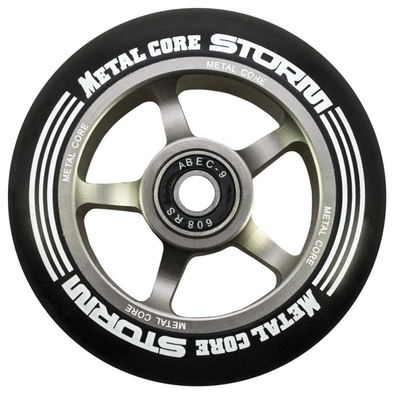 Rueda Metal Core STORM goma negra núcleo color titanio