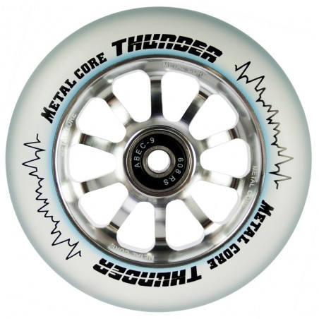 Rueda Metal Core 110THUNDER goma transparente núcleo color aluminio