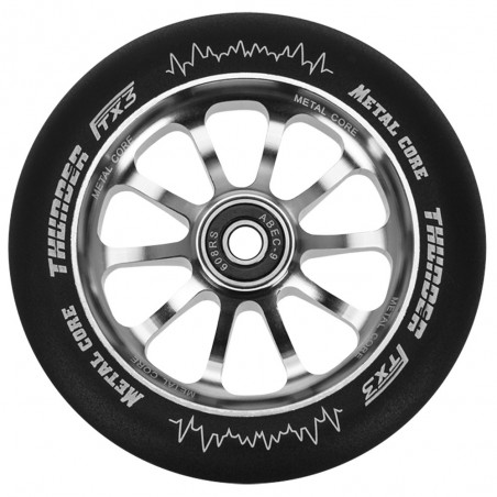 Rueda Metal Core 120THUNDER goma negra núcleo negro