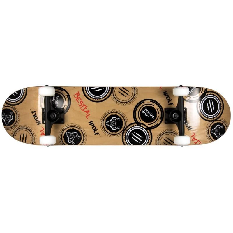 Skateboard completo MADNESS 8 x 31 lobo sello,7 full canadiense maple