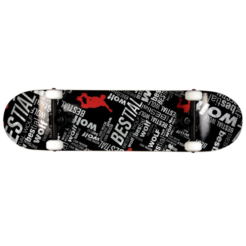 Skateboard completo UNDER WOLF 8 x 31 letras,7 full canadiense maple