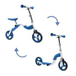SCOOBIK Scooter y bici, 2 en uno, color azul