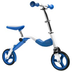 SCOOBIK Scooter y bici, 2 en uno, color azul