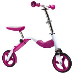 SCOOBIK Scooter y bici, 2 en uno, color rosa