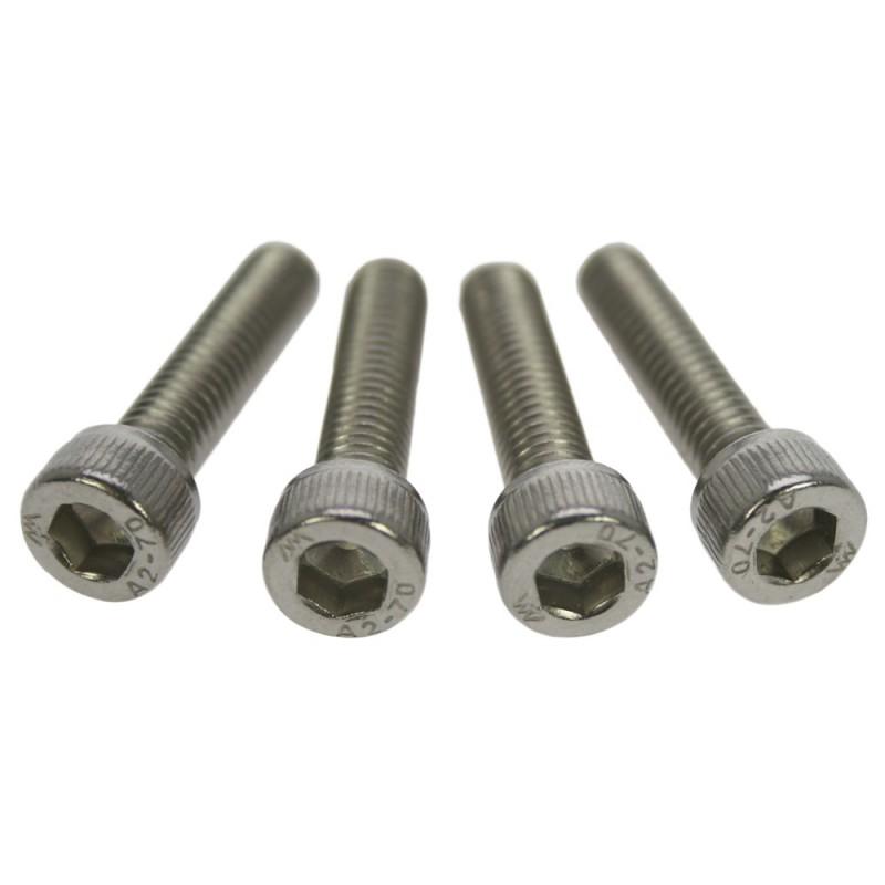 Conjunto 4 tornillos acero para clamp TOR4INOX plateado