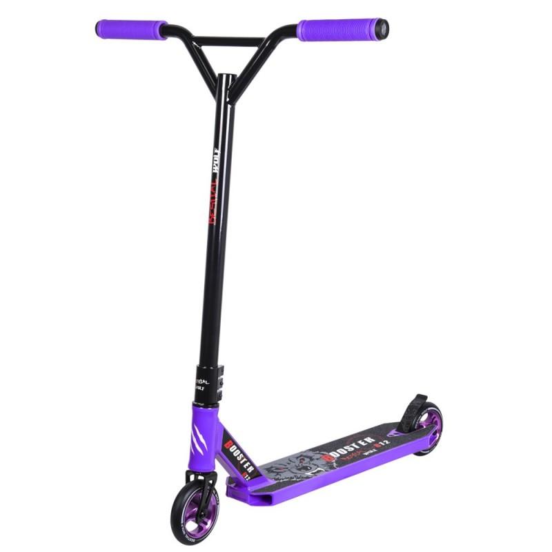 Nuevo Scooter Pro Bestial Wolf BOOSTER B12 manillar negro tabla violeta